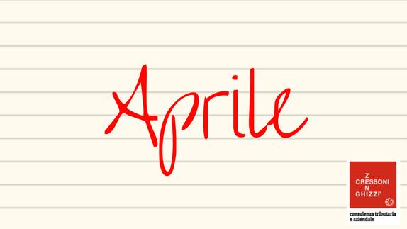 APRILE 2019