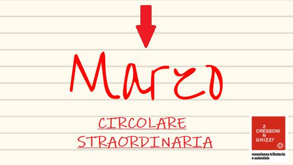 MARZO 2020 – CIRCOLARE STRAORDINARIA