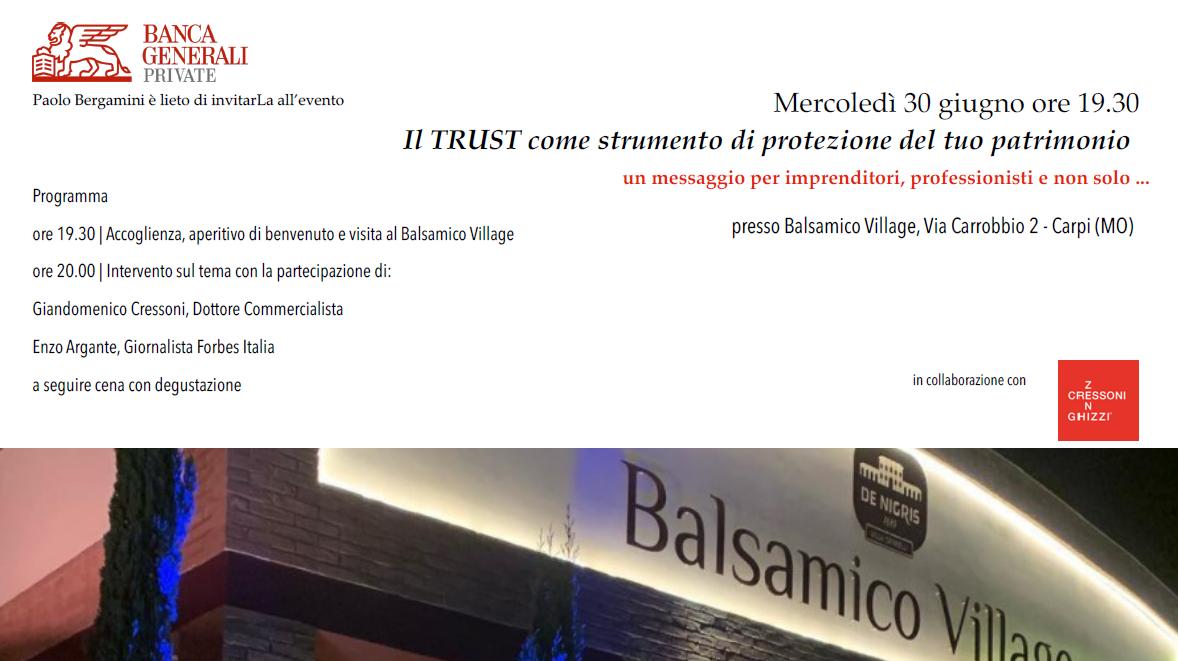 IL TRUST COME PROTEZIONE DEL PATRIMONIO